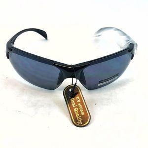 NWT   Black Motocross Racer UV Sunglasses